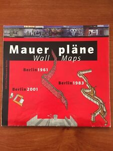 RARE COLLECTIBLE DDR GERMANY DEUTSCHLAND MAP- BERLIN WALL MAUER 1961, 1983, 2001