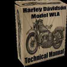 WWII Harley Davidson Model WLA Technical Manual on CD