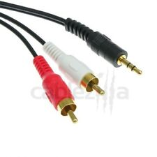 12ft 3.5mm 2RCA Male Stereo Adapter Audio Cable Plug Jack PC Ipod MP3 TV PC