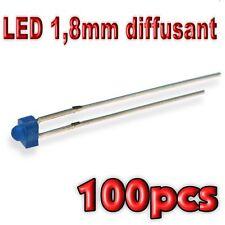 367/100# LED 1,8mm bleu diffusant 100pcs