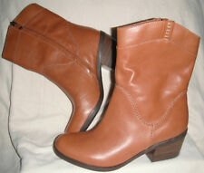 New B. Makowsky   Brown Western Inspired Leather Boots sz 6M $156