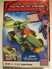 MEGA BLOKs SET 91325 Spider-man Lizard amazing key launcher Build & Racer