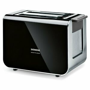 Siemens TT86103 Antracita 860 W, 220  Tostadora Mecanismo de autocentrado de pan