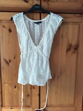 Ladies French Connection summer top white 10
