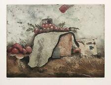 """Reinhard Zado, """"Pomodori"""", 1986 Radierung handsigniert"""