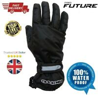 New 100% Waterproof high visiblity Motorbike Motorcycle Overmitts / Over Gloves
