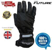 Waterproof Motorbike Motorcycle Overmitts / Over Gloves Black