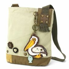 New Chala Patch Crossbody Bag gift Messenger Canvas Sand Beige PELICAN Bird gift