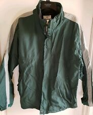 Men's Burton Snowboard Universe Green/Gray Zip Up Jacket/Coat Size L