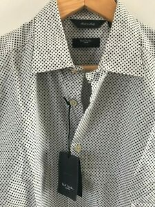 """Paul Smith Gents Formal Tailored Shirt in Star Print Sizes 15"""" -17"""" - RRP £160"""