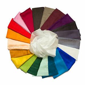 Seidentuch Tuch Halstuch 90x90cm in verschiedenen Farben einfarbig unifarben Sei