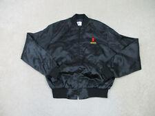 Vintage Michelob Beer Jacket Adult Large Black Bar Drinker Satin Coat Mens 90s