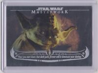 2020 Topps Star Wars Masterwork The Wisdom of Yoda WY-3 Rainbow Card # 068/299