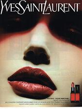 PUBLICITE ADVERTISING 045  2003  YVES SAINT LAURENT rouge à lèvres ROUGE PERSONN