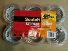 """Scotch Storage Packaging Tape - 1.88"""" x 54.6yd - Case of 6 six packs = 36 rolls"""