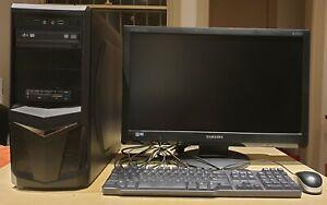 Intel Core i7-4770 3.4GHz CPU, 8G RAM, 1T HD, Windows 10 Pro, 24 Samsung Monitor