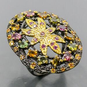 Fine art jewellery Tourmaline Ring Silver 925 Sterling  Size 8 /R167216
