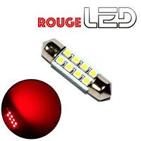 1 Ampoule navette c7w 39 mm 39mm 8 LED ROUGE Habitacle Plafonnier coffre boite