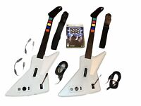 Lot of 2 Xbox360 Red Octane Xplorer Explorer Guitars Wired Straps USB +Rock Band
