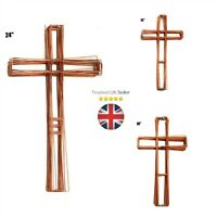 "Wreath Cross Flat Copper Wire Frame Christmas Funeral Xmas 15"" 18"" 24"" UK"