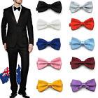 Men's Color Tuxedo Classic Bowtie Pre Tied Wedding Satin Bow Tie Neckwear