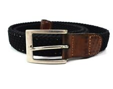 Paul & Shark Vintage Woven Fabric and Leather Mens Stretch Belt Size 32