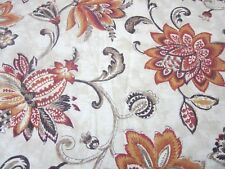 """World Market Eva Curtains One Pair Paisley Lined Modern Cottage 48""""x84"""" Each"""