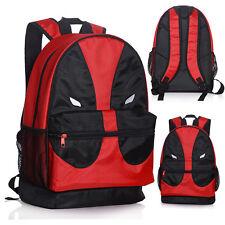Deadpool Face Mesh Pocket Backpack School Book Bag Shoulder Bag Cosplay