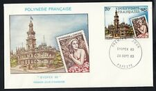 French Polynesia Sydpex 80, First Day Cover