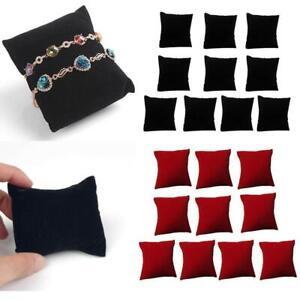 10Pcs Velvet Small Pillow Watchs Jewelry Display Cushion Bracelet Storage Holder