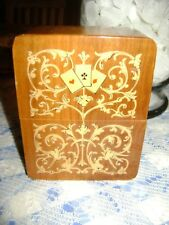 Wood inlay inlaid  Playing Card Box , Sorrento See all photos Italy very nice