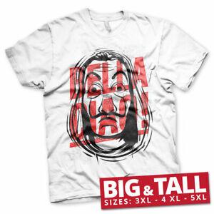 Licensed La Casa De Papel - Masked Bella Ciao BIG & TALL 3XL, 4XL, 5XL T-Shirt
