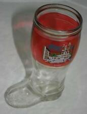 2 pc Mold Vintage Glass Boot Mug Roma Piazza di Spagna Rome Italy Souvenir