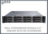 Dell PowerEdge R720xd 2x E5-2680 2.70Ghz 16cores 12TB Windows Server 2012 R2 std