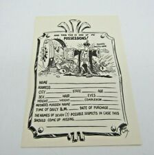 """VTG Robert Williams Robt Wms., Exlibris, """"...one of my possessions"""" Subjective 3"""