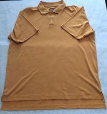 Adidas Men's Golf Shirt Polo Size Large L  Short Sleeve Climacool Orange