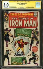 Tales of Suspense #57 CGC 5.0 SS STAN LEE Iron Man Origin 1st app HAWKEYE Marvel