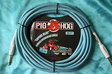 Pig Hog Daphne Blue Woven Jacketed Instrument Cable,20ft,Straight Ends,PCH20DB