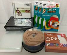 DVD - R Blank Disks, Sleeves and Hard Storage Cases, Lot
