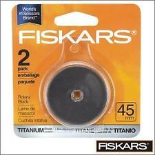 Fiskars 45mm Rotary Cutter Blades X2 Titanium