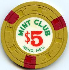 The Mint Club Casino, Reno - $5 Chip - 1958