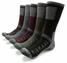 Comfortable Athletic Crew Socks for Men w/ Reinforced Underfoot Cushion (5 Pair)