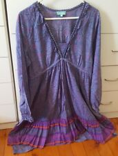 FIREFLY Stylish Cotton DRESS Size M Purple Paisley Boho Festival Byron Bay B19