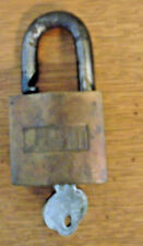 VINTAGE SARGENT KEY PADLOCK WITH KEY- GOOD CONDITION (5105-508)