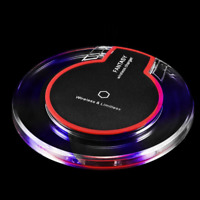 LED Charger Dock Qi Wireless Advanced Fast Charging Pad Station Universal