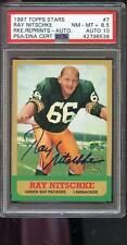 1997 Topps Stars Rookie Reprints Ray Nitschke AUTO Autograph Card PSA PSA/DNA 10