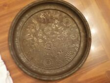 VINTAGE   TIN PLATE  WITH FLORAL DESIGN