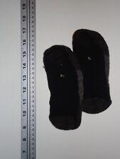 SMARTWOOL Shoe Liners Unisex Large 9-11.5 Dark, Medium Brown Black Mesh Top