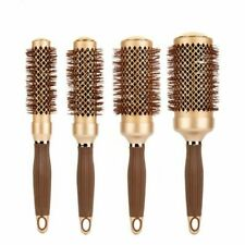 Curly Hair Round Comb Gold Nano Ceramic Aluminum Radial Ionic Salon Brushes