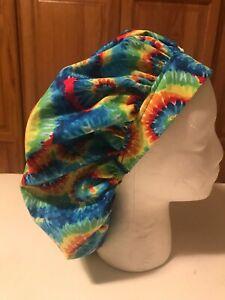 Scrub Hat Medical Nursing Chemo Tie Dyed Cotton Fabric